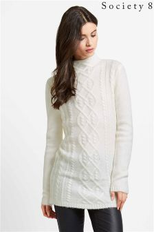 Society 8 Cable Knit Jumper