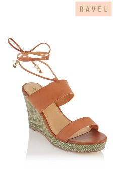 Ravel Lace Up Wedge Sandals