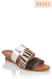 Ravel Three Strap Wedge Sandals