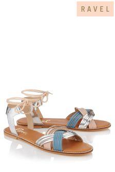 Ravel Flat Lace Sandals