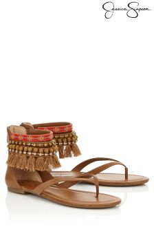 Jessica Simpson Embellished Tassel Sandals