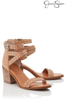 Jessica Simpson Studded Buckle Wrap Sandal