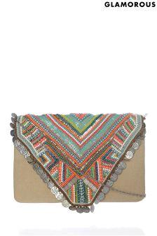 Glamorous Aztec Beaded Bag