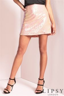 Lipsy Sequin Skirt