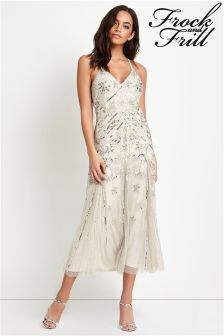 Frock And Frill Areanna Sequin Midi Dress