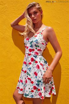 Mela London Floral Print Skater Dress