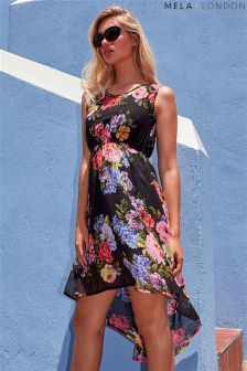 Mela Loves London Floral Print High Low Dress