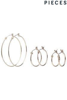 Pieces 3 Pack Hooped Earrings