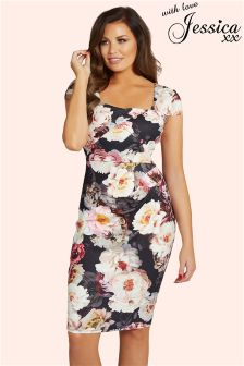 Jessica Wright Floral Print Bodycon Dress