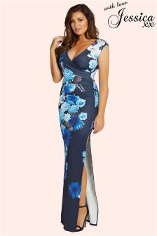 Jessica Wright Floral V neck Maxi Dress