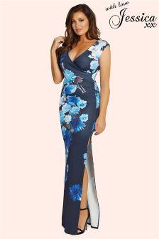 Jessica Wright Floral V neck Maxi Dress