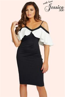 Jessica Wright Ruffle Bodycon Dress