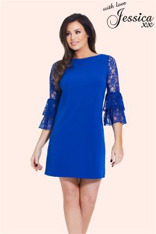 Jessica Wright Flare Sleeve Shift Dress