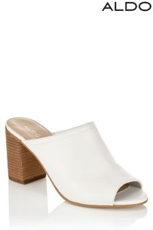 Aldo Open Toe Leather Mules