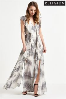 Religion Printed Maxi Dress