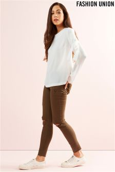 Fashion Union Bow Sleeve Blouse