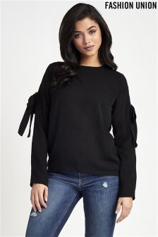 Fashion Union Ruffle Sleeve Blouse