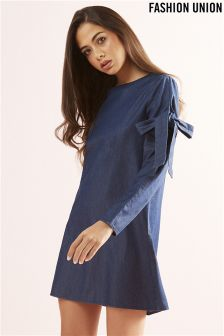 Fashion Union Bow Sleeve Shift Dress