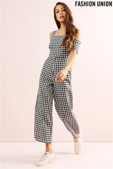 Fashion Union Cold Shoulder Jumpsuit