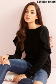 Fashion Union Frill Jumper