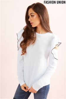 Fashion Union Ruffle Sleeve Jumper