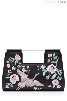 Forever New Embroidered Clutch
