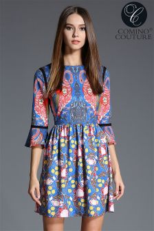 Comino Couture Flamingo Mini Dress