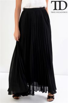 True Decadence Pleated Maxi Skirt