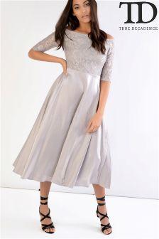 True Decadence Lace Bardot Dress