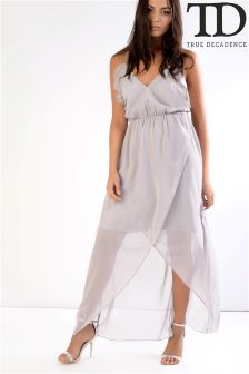 True Decadence Ruffle Maxi Dress