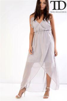 True Decadence Ruffle Maxi Dress