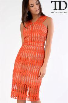 True Decadence Textured Lace Dress