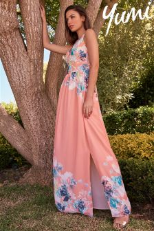 Yumi Sleeveless Floral Maxi Dress
