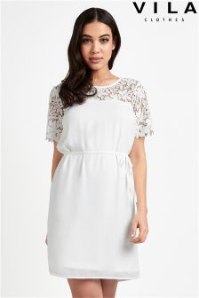 Vila Lace Shift Dress