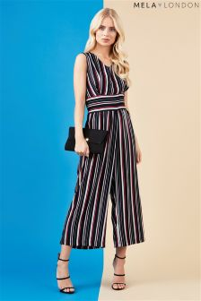 Mela Loves London Striped Jumpsuit