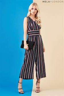 Mela Loves London Striped Jumpsuit