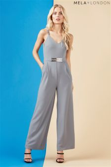 Mela London Belted Detail Jumpsuit