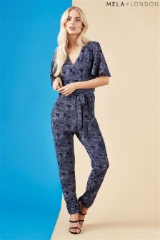 Mela Loves London Paisley Print Jumpsuit