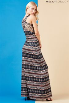 Mela London Aztec Printed Maxi Dress