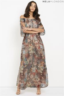 Mela London Forest Print Maxi Dress