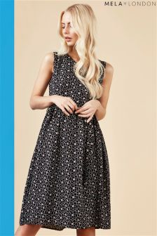 Mela London Skater Overlapping Flower Dress
