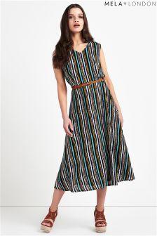 Mela London Pastel Stripes Midi Dress