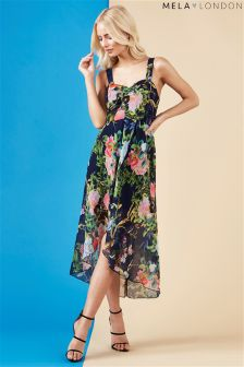 Mela London Printed High Low Dress