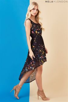 Mela London Butterfly High Low Dress