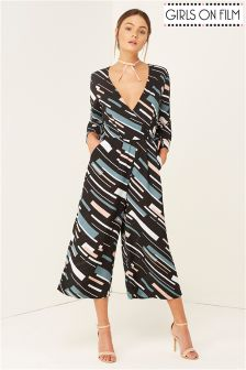 Girls On Film Geo Print Jumpsuit