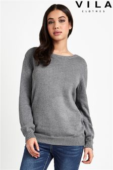 Vila Long Sleeve Knit Top