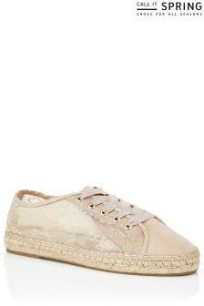 Call It Spring Ladies Lace Up Espadrilles