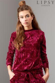 Lipsy Velour Sweatshirt