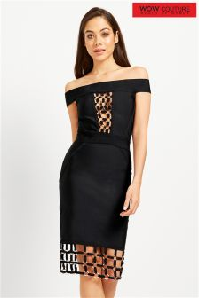 Wow Couture Metal Trim Bandage Dress