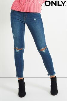 Only Ankle Grazer Ripped Skinny Jeans